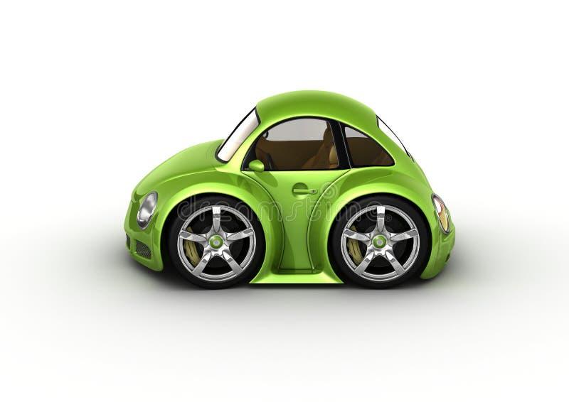 зеленый цвет автомобиля иллюстрация вектора