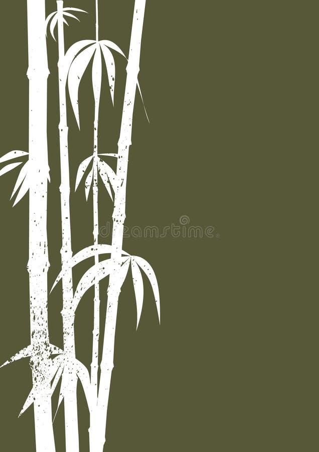 зеленый цвет бамбука иллюстрация штока