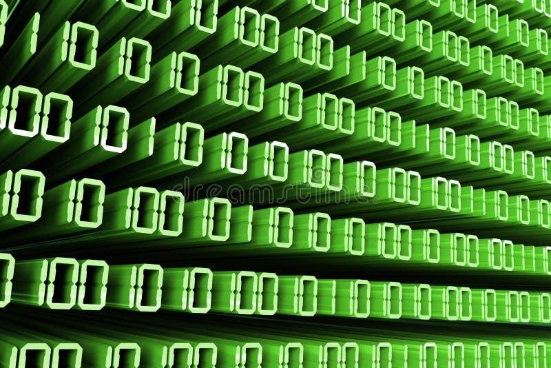зеленый цвет бинарного Кода иллюстрация вектора
