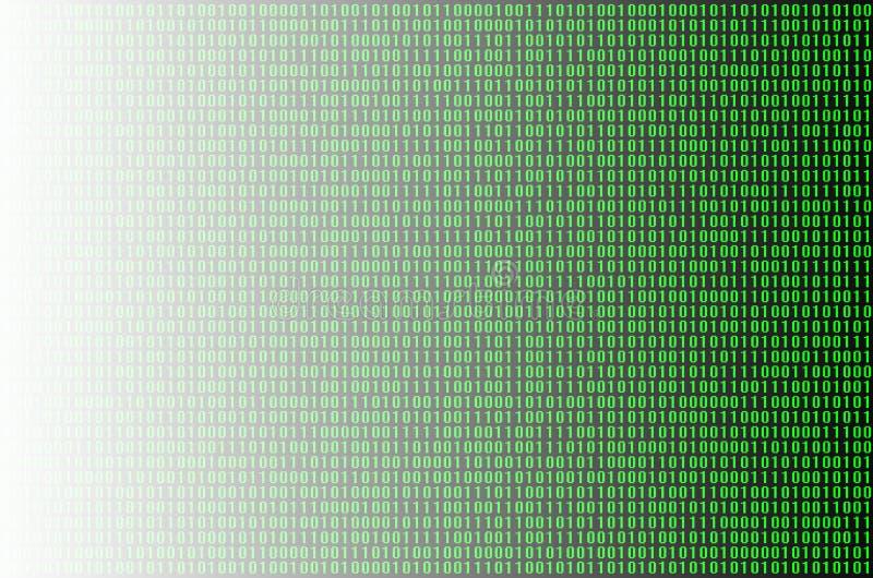 зеленый цвет бинарного Кода стоковые фотографии rf