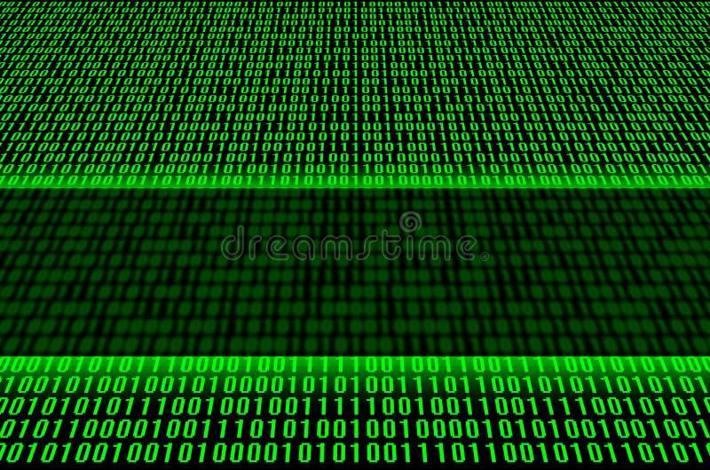 зеленый цвет бинарного Кода стоковое изображение rf