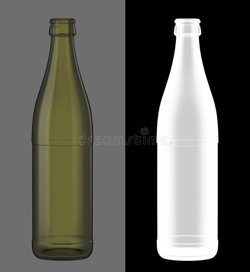 зеленый цвет бутылочного стекла пива бесплатная иллюстрация
