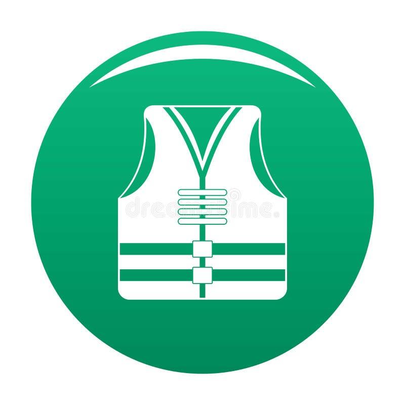 Зеленый цвет вектора значка жилета спасения бесплатная иллюстрация