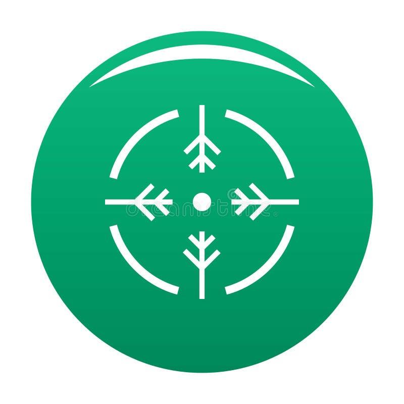 Зеленый цвет вектора значка круга всхода иллюстрация вектора