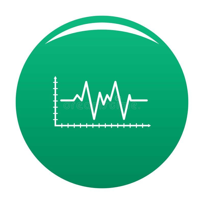 Зеленый цвет вектора значка Cardiogram бесплатная иллюстрация