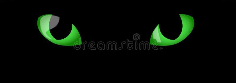 зеленый цвет глаз котов иллюстрация вектора