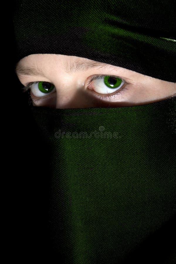 зеленый цвет глаз стоковое изображение