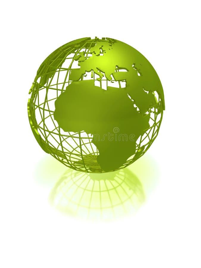 зеленый цвет глобуса земли бесплатная иллюстрация