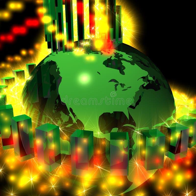 зеленый цвет глобуса энергии америки северный иллюстрация вектора