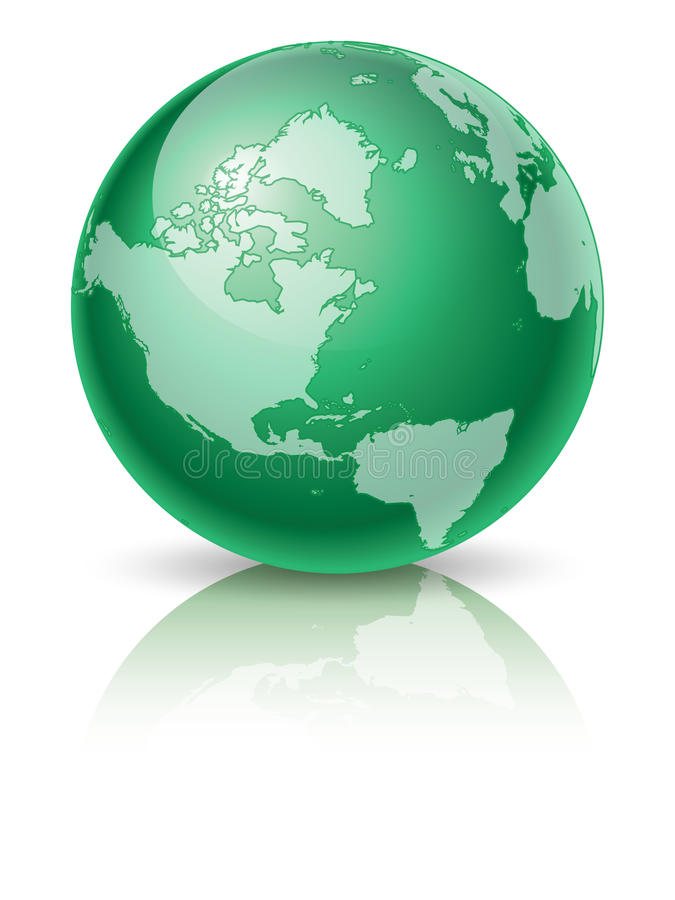 зеленый цвет глобуса