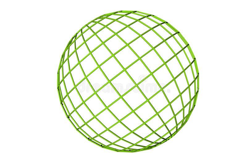 зеленый цвет глобуса иллюстрация вектора
