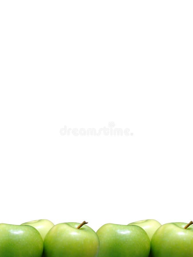 зеленый цвет граници яблок стоковые фотографии rf