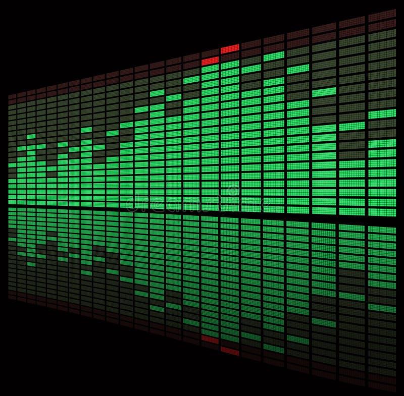 зеленый цвет графика выравнивателя diod бесплатная иллюстрация