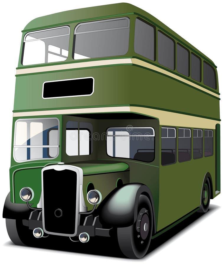 зеленый цвет двойника decker шины иллюстрация штока