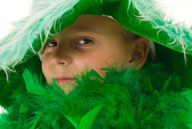 зеленый цвет девушки стоковые изображения rf
