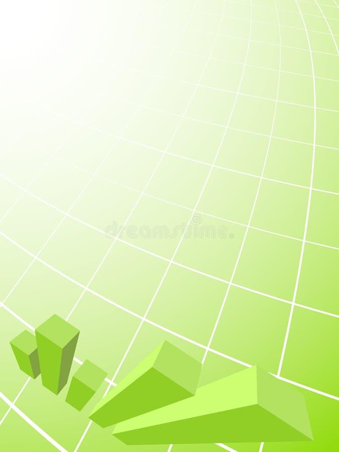 зеленый цвет дела предпосылки иллюстрация штока