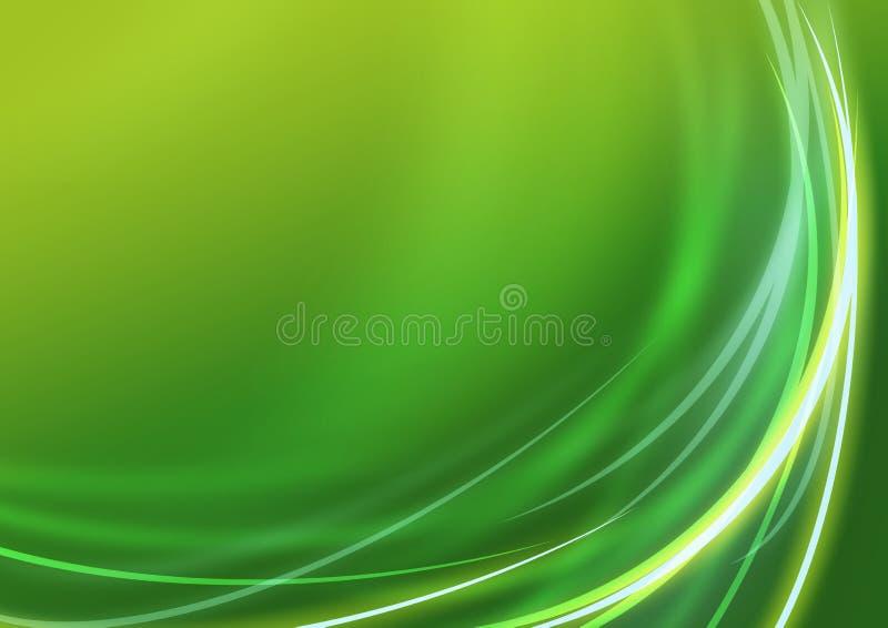 зеленый цвет дела предпосылки иллюстрация вектора