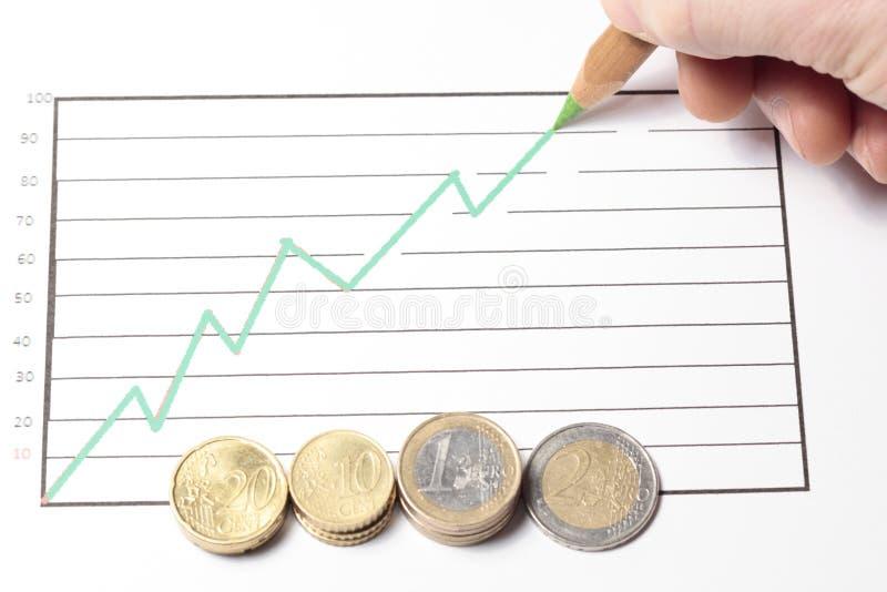 зеленый цвет диаграммы стоковая фотография rf