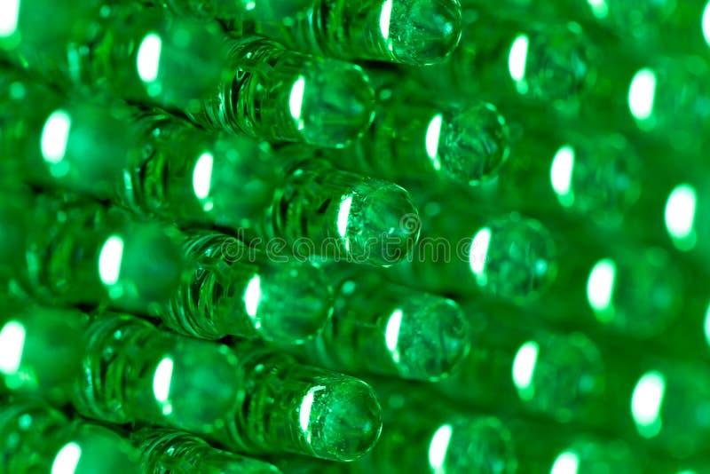 зеленый цвет дисплея диода вел панель стоковая фотография rf