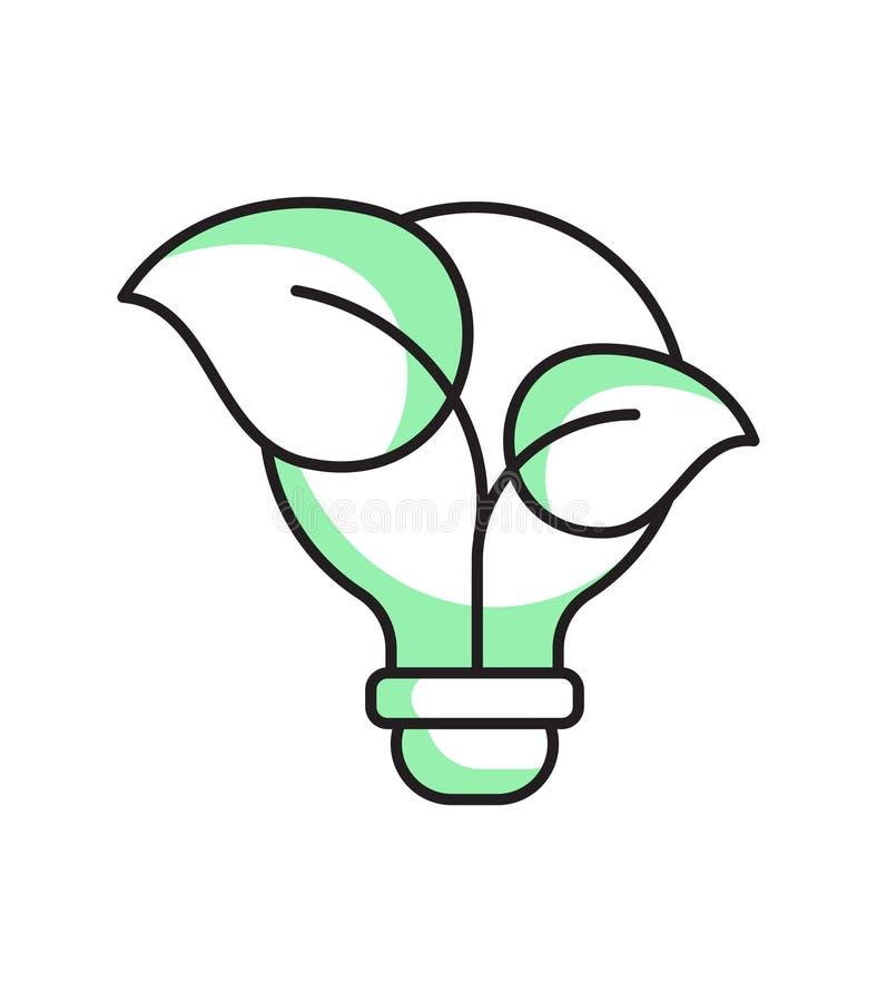 зеленый цвет думает принципиальная схема экологическая стоковое фото