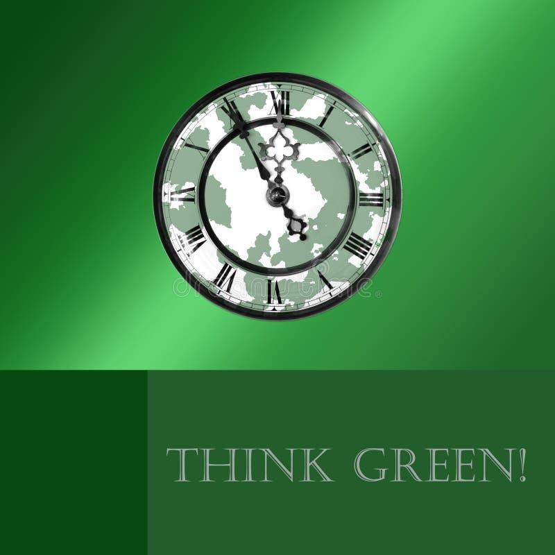 зеленый цвет думает иллюстрация штока