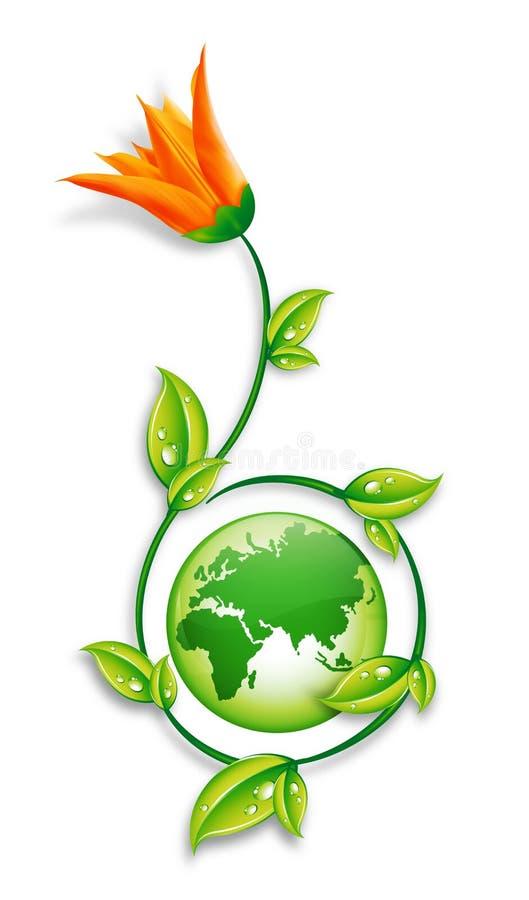 зеленый цвет земли принципиальной схемы иллюстрация штока