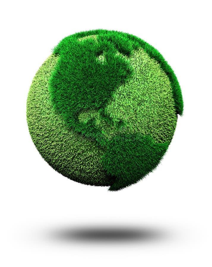 зеленый цвет земли иллюстрация вектора