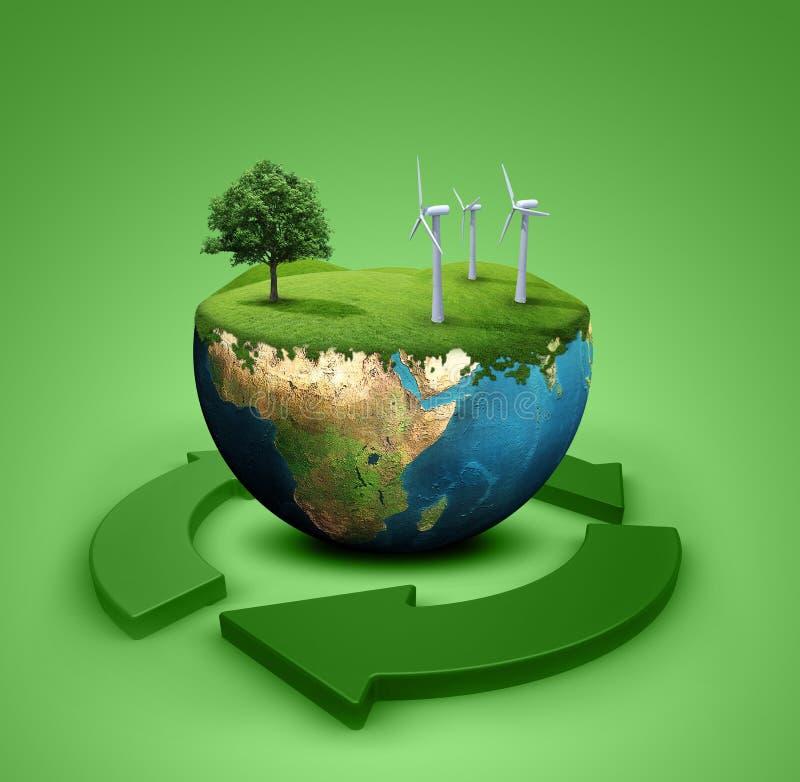зеленый цвет земли иллюстрация штока