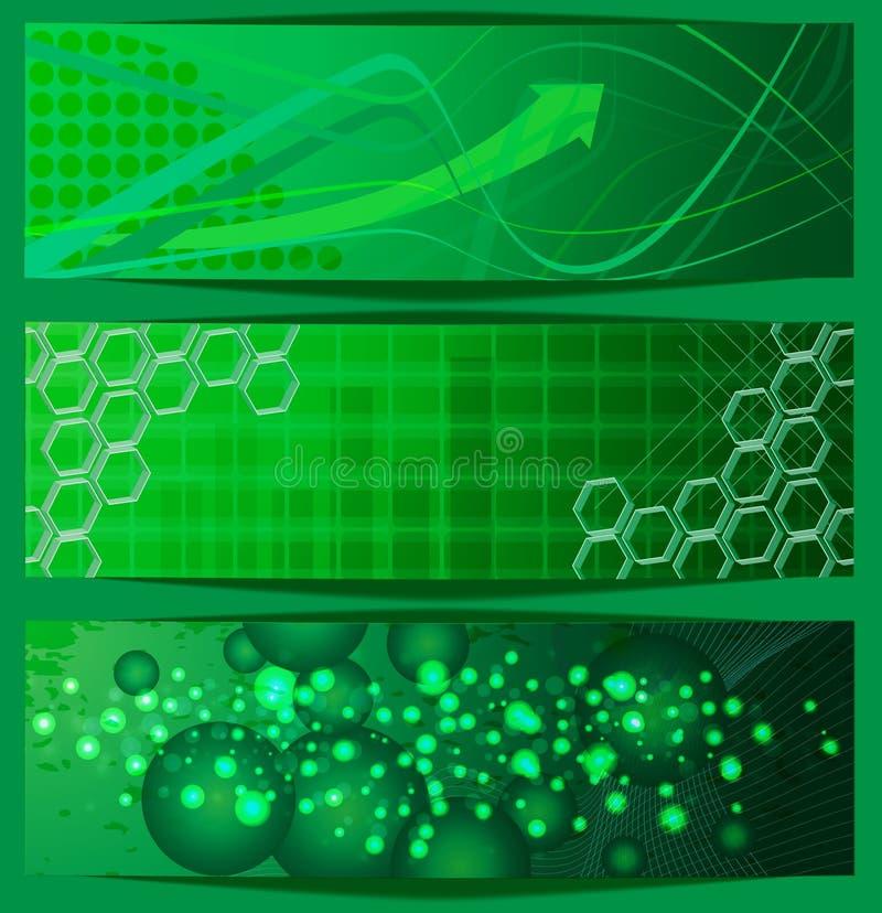 зеленый цвет знамен стоковые фото