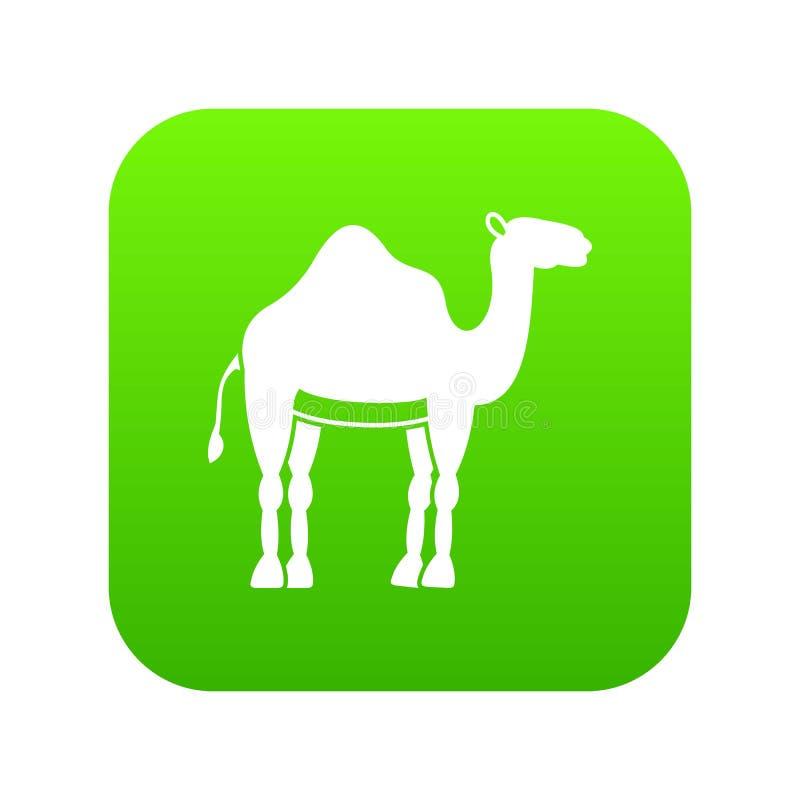 Зеленый цвет значка верблюда цифровой бесплатная иллюстрация