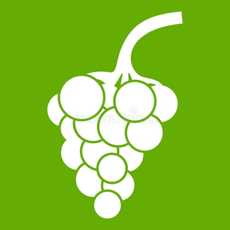 Зеленый цвет значка ветви виноградины иллюстрация вектора