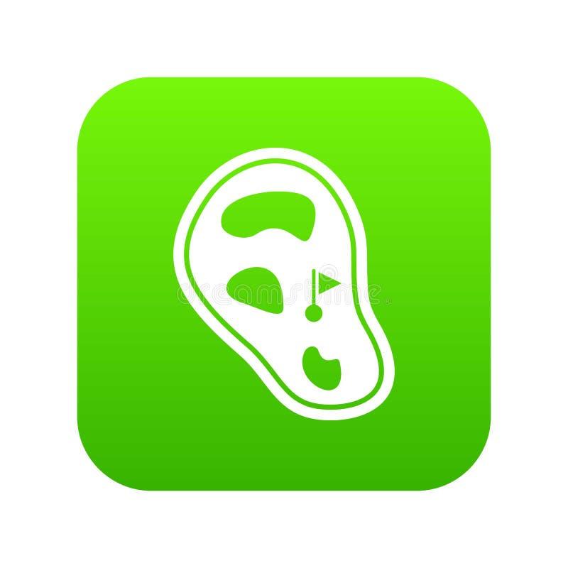 Зеленый цвет значка поля поля для гольфа цифровой бесплатная иллюстрация