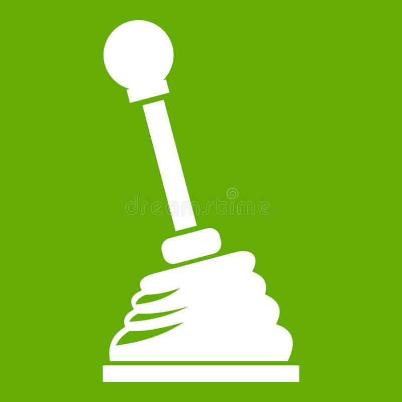 Зеленый цвет значка ручки шестерни бесплатная иллюстрация