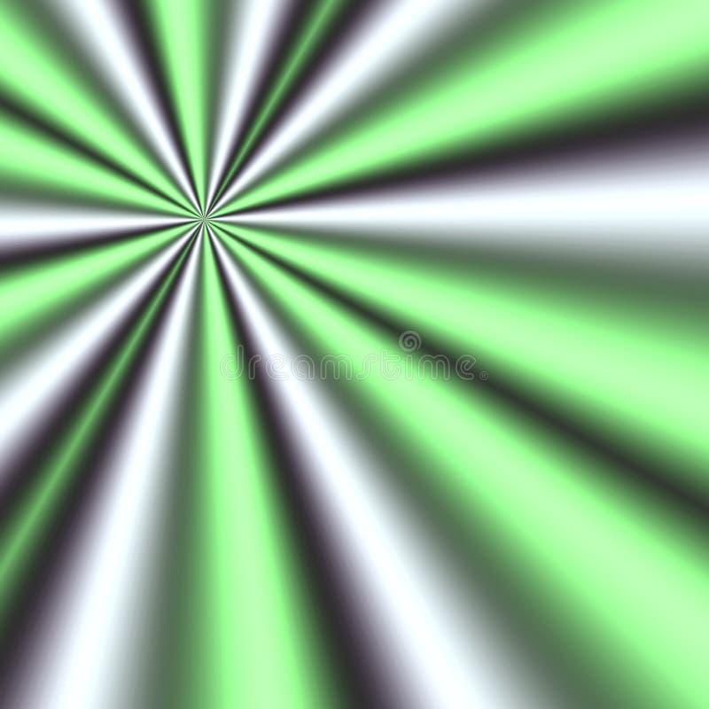 зеленый цвет излучает белизну иллюстрация вектора