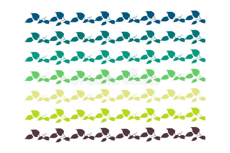 Зеленый цвет и синь границы лист бесплатная иллюстрация