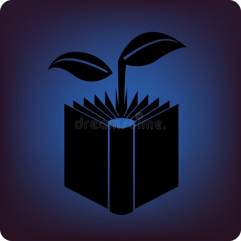 зеленый цвет книги иллюстрация вектора