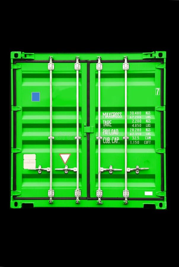 зеленый цвет контейнера стоковые фото
