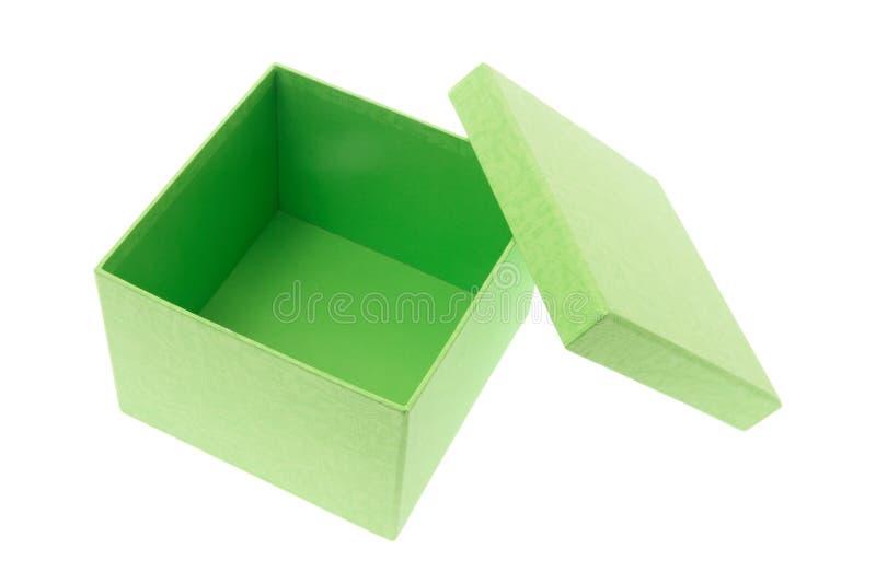 зеленый цвет коробки стоковые изображения rf