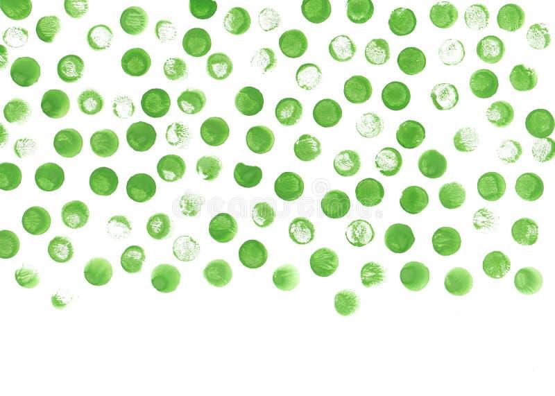 Зеленый цвет объезжает предпосылку акварели Акварель текстурирует абстрактной круги покрашенные рукой иллюстрация штока