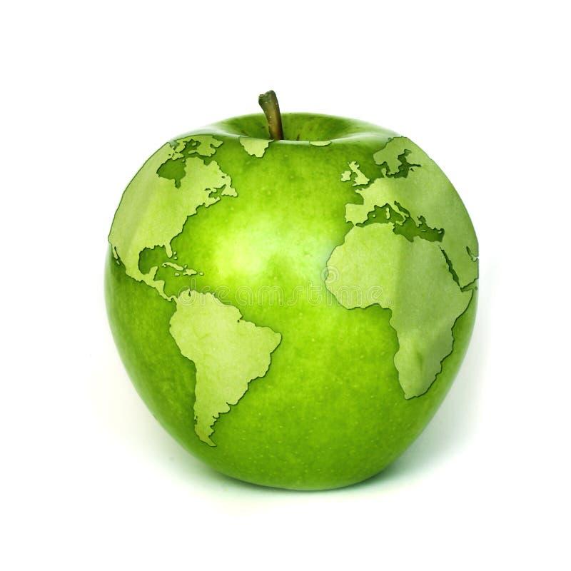 зеленый цвет принципиальной схемы относящий к окружающей среде иллюстрация вектора