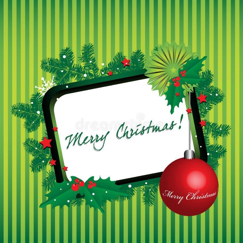 зеленый цвет рамки рождества иллюстрация штока