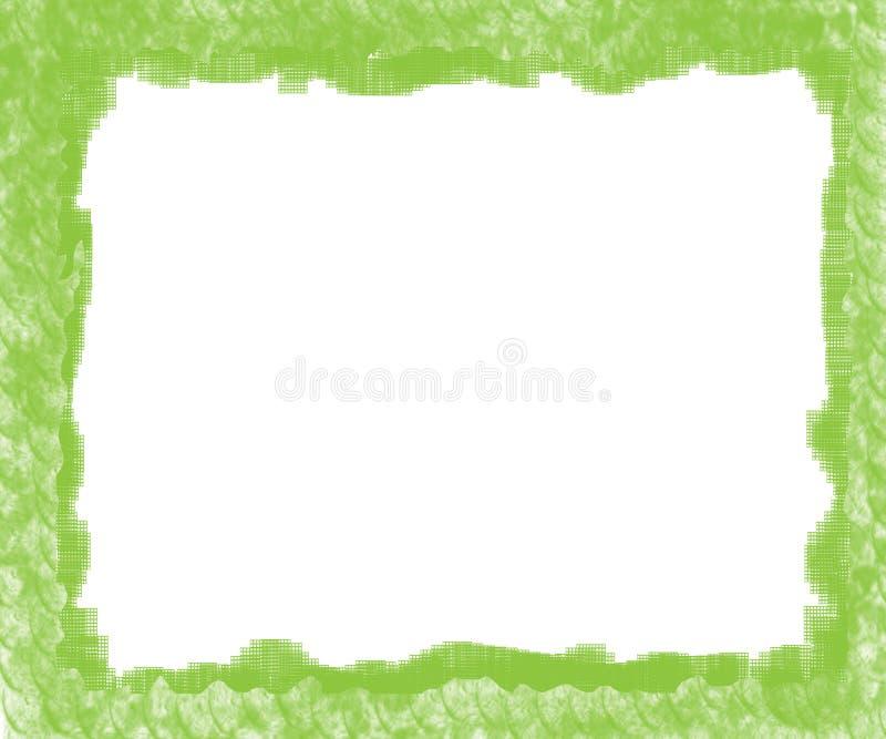 зеленый цвет рамки иллюстрация штока