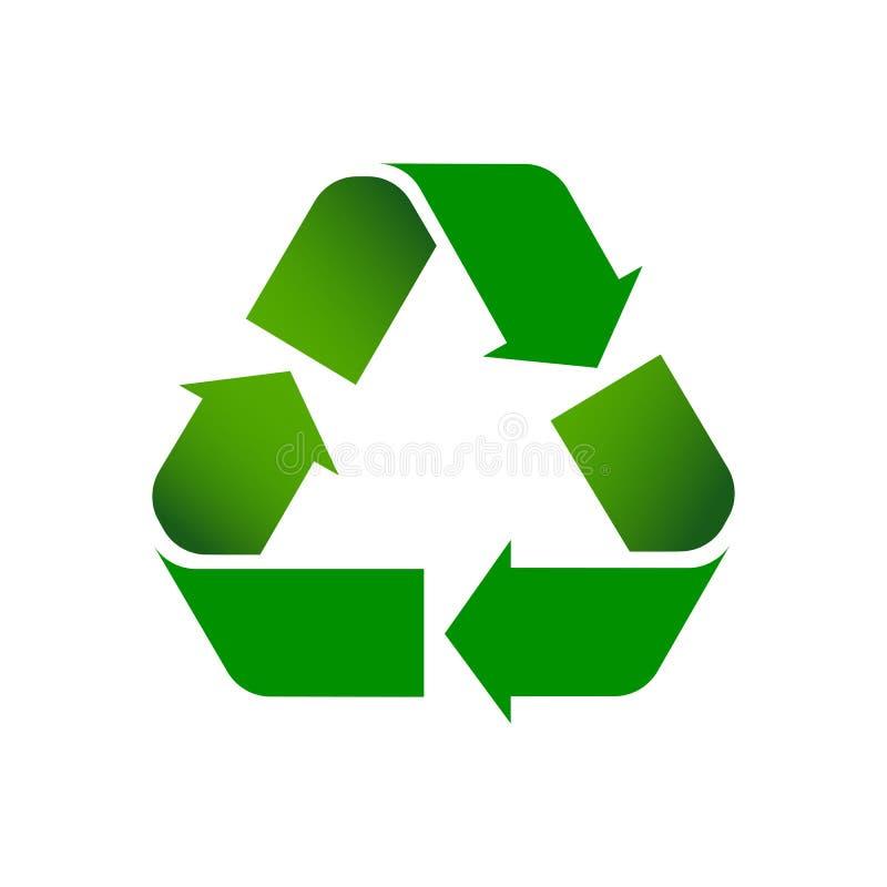 Зеленый цвет рециркулирует символ с тенями бесплатная иллюстрация