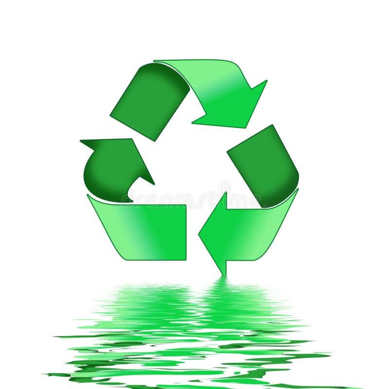 зеленый цвет рециркулирует символ иллюстрация штока