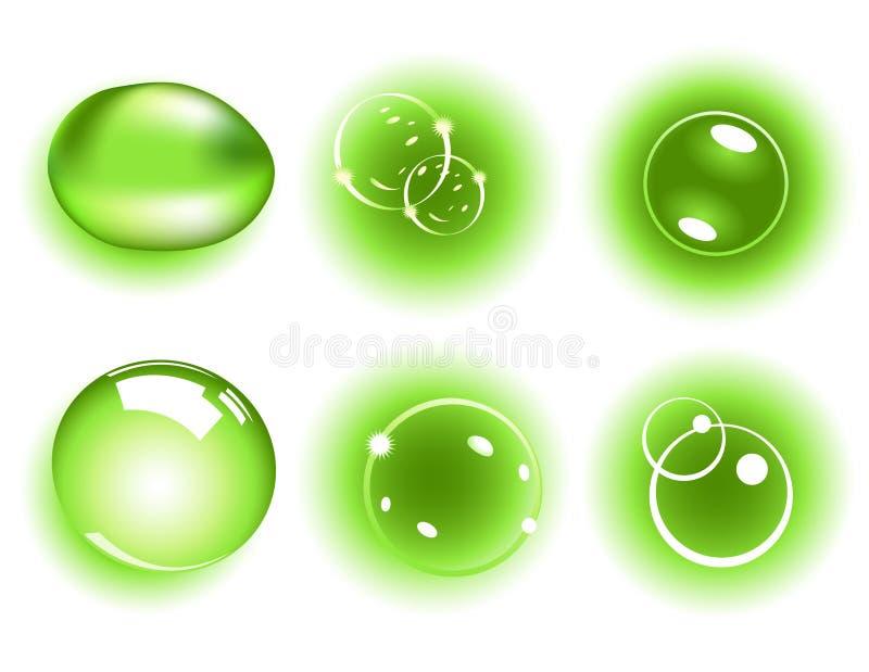 зеленый цвет росы иллюстрация штока