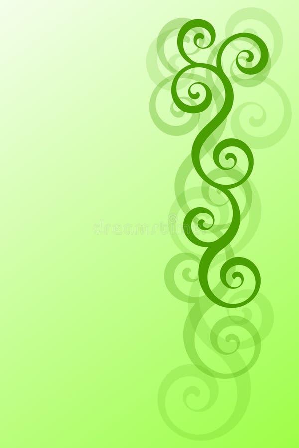 зеленый цвет скручиваемостей иллюстрация вектора