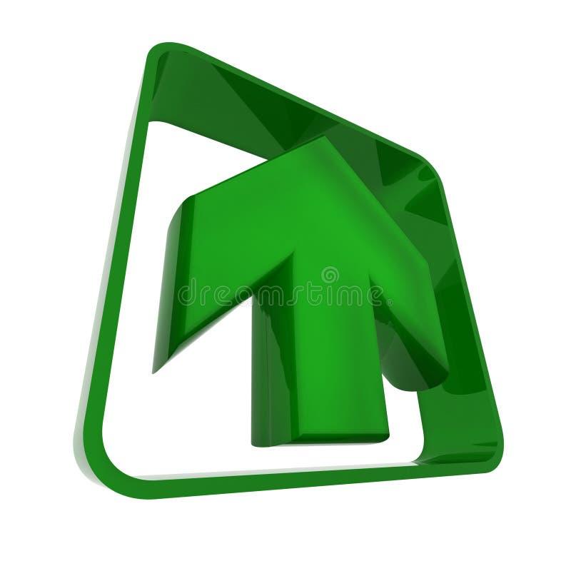 зеленый цвет стрелки иллюстрация вектора