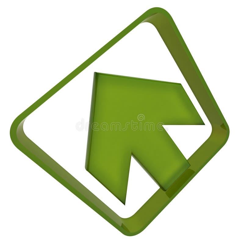 зеленый цвет стрелки бесплатная иллюстрация
