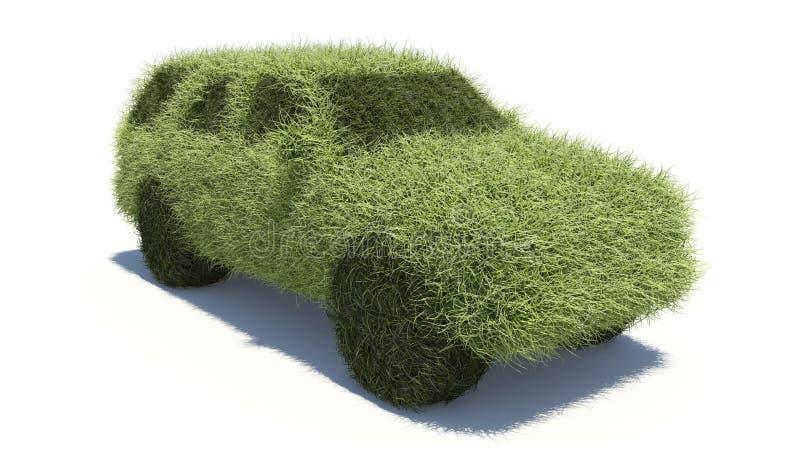 зеленый цвет топлива принципиальной схемы автомобиля чистый иллюстрация вектора