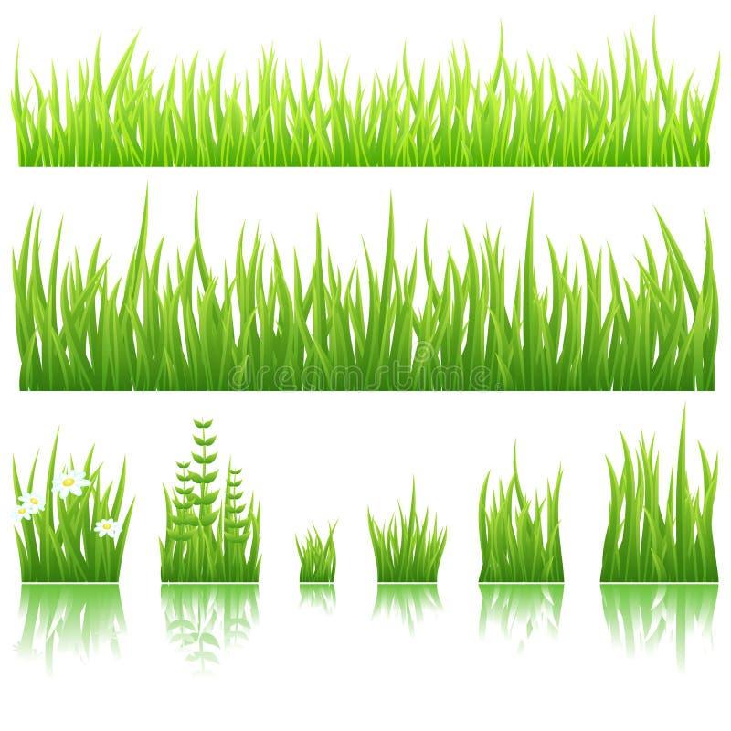 зеленый цвет травы иллюстрация штока